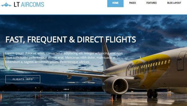 LT Aircoms- Woo Commerce enabled WordPress Theme