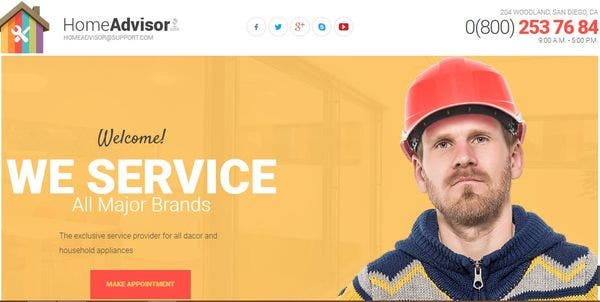 Home Advisor - Bootstrap 3 WordPress Theme