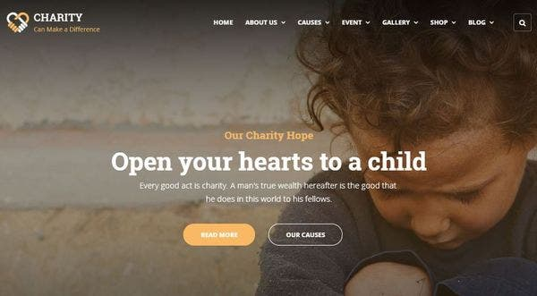 Charity – Real Time Customizer WP Theme