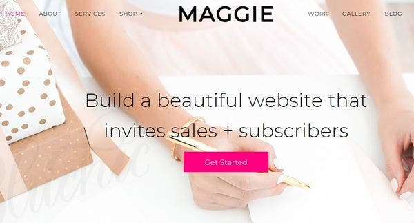 Maggie – Newsletter Signup Form WordPress Theme