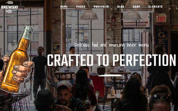 Brewski – WooCommerce Ready WordPress Theme