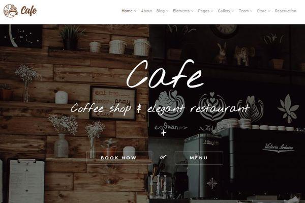 Cafe - ShortCode Generator Embed WordPress Theme