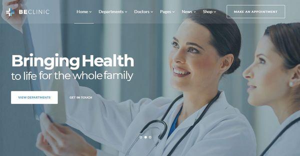 BeClinic – Medical WordPress Theme