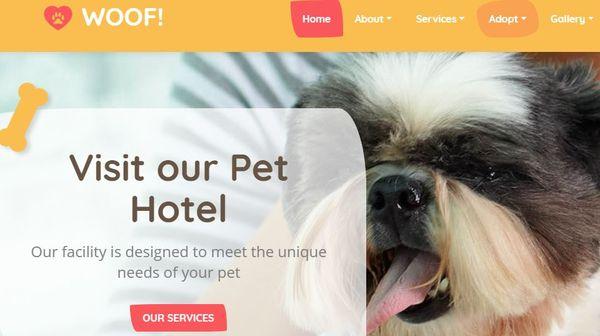 Woof! - Responsive Multipage WordPress theme