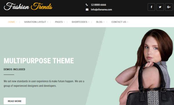Fashion Trends – SEO Friendly WordPress Theme