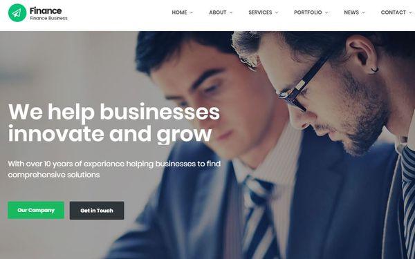 Finance - LayersWP Framework WordPress Theme