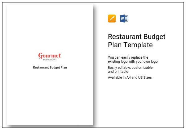 455 restaurant budget plan 1
