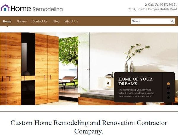 Home Remodeling – Location Map Compatible WordPress Theme