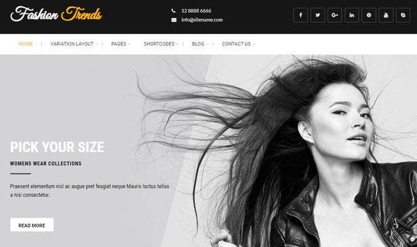 Fashion Trends - Animation Supported WordPress Theme