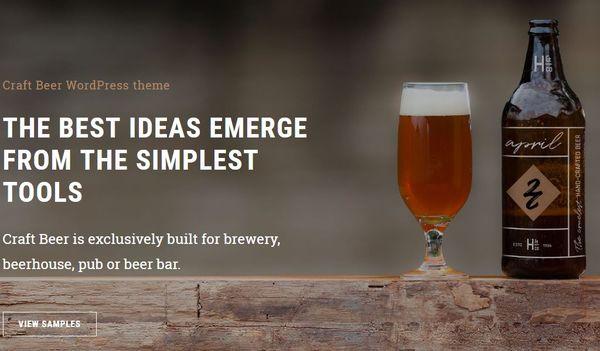 Craft Beer – Google Font Integrated WordPress Theme