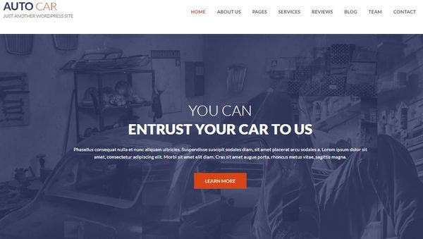 Auto Car - Gallery Plugins Compatible WordPress Theme