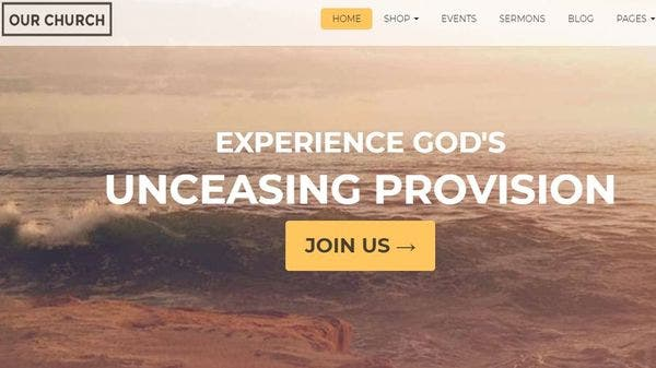 Our Church – Bootstrap Framework 3.2 WordPress Theme
