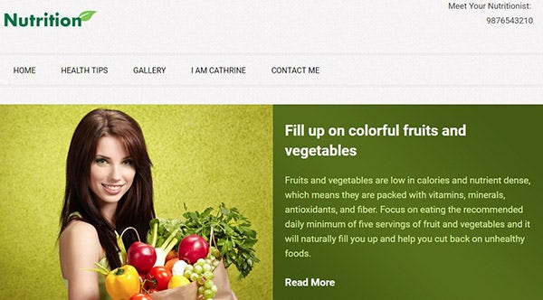 Nutrition – Fully Customizable WordPress Theme