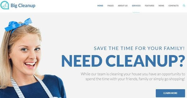 Big Cleanup – Responsive WordPress Theme