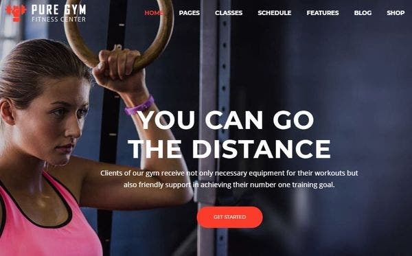 Pure Gym - Parallax Effect Supported WordPress Theme