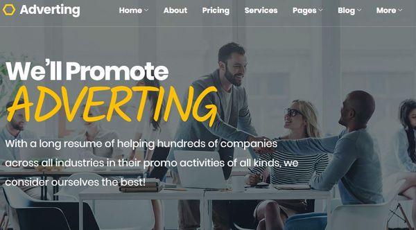 Adverting - Drag-n-Drop Page Builder Powered WordPress Theme