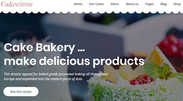 Cakecious – Cross Browser Compatible WordPress Theme