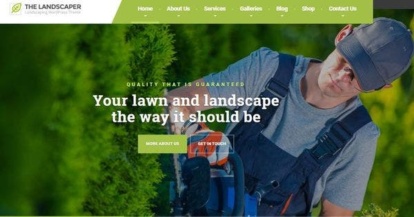 The Landscaper – Drag and Drop Page Builder Integrated WordPress Theme