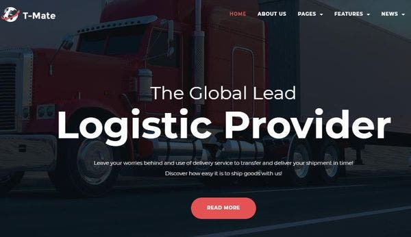 Transportation Services - Cherry Plugins Enabled WordPress Theme