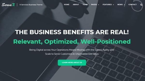 ServaX – Elementor Page Builder WordPress Theme