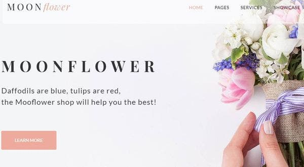 Moon Flower: Retina ready WordPress Theme