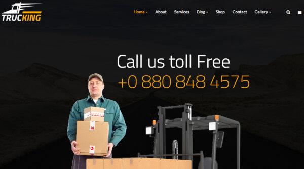 Trucking – King Composer Page Builder WordPress Theme