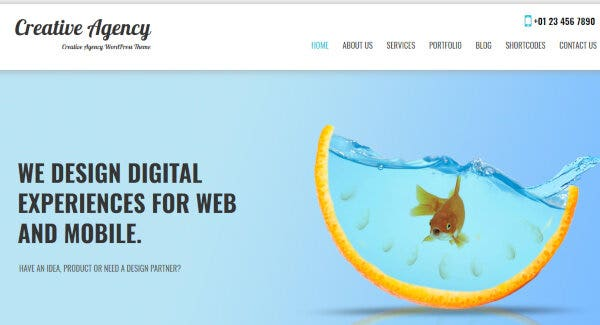 Creative Agency- Widget Cordial WordPress Theme