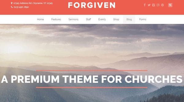 Forgiven – Free Plugins WordPress Theme