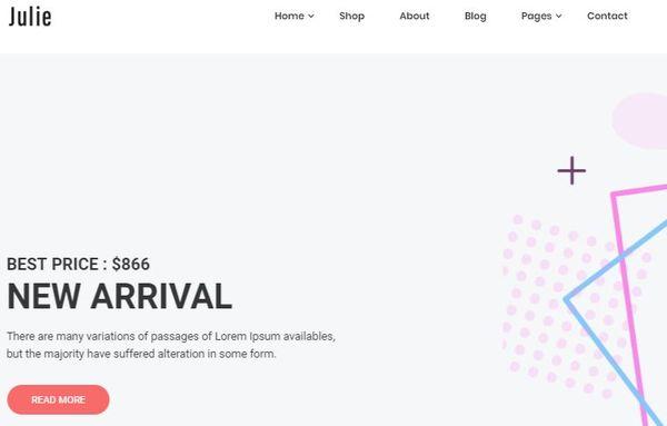 Julie - Cross Browser Optimized WordPress Theme