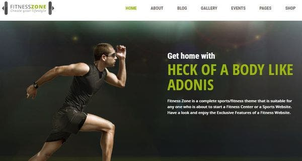 Fitness Zone - RTL Supported WordPress Theme