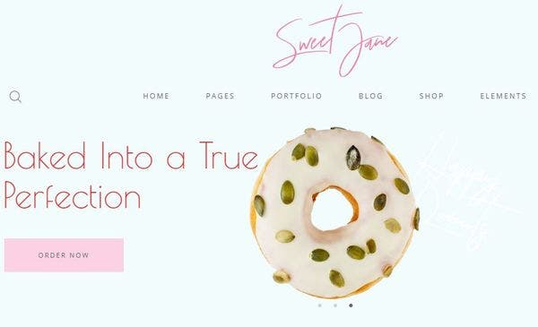 layout has five header styles. It hardly gets any cooler than Cakecious, the perfect desserts WordPress theme. Sweet Jane – Responsive WordPress Theme