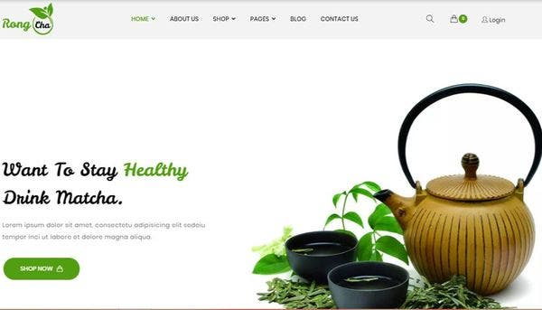 Rongcha Matcha – Retina Ready WordPress Theme