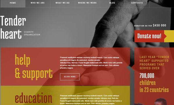 Charity – Sliced PSD WordPress Theme