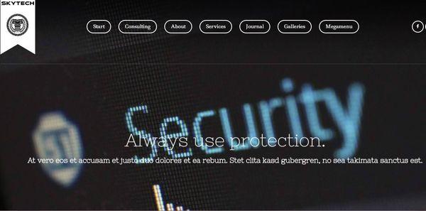Skytech – Easy Logo Upload Compatible WordPress Theme