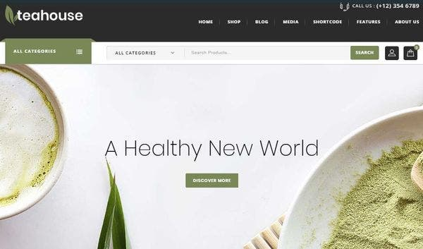 Teahouse - Cloud Zoom Feature Enabled WordPress Theme