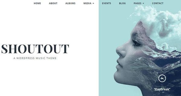 Shoutout – Browser Compatible WordPress Theme