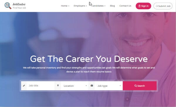 Jobfinder - One Click Demo Import Supported WordPress Theme