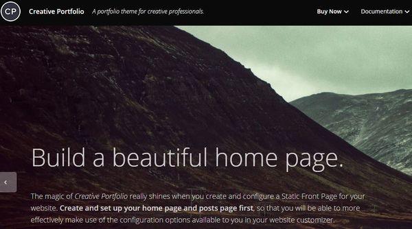 Creative Portfolio – Mobile Responsive WordPress Theme