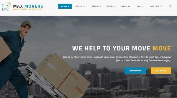 Max Movers – One-click Demo Setup WP Theme