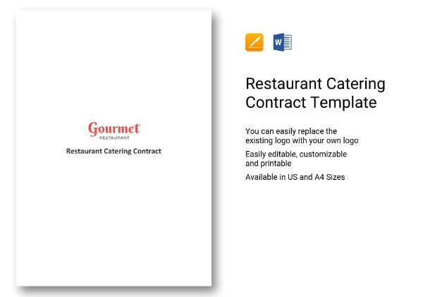74 restaurant catering contract 1