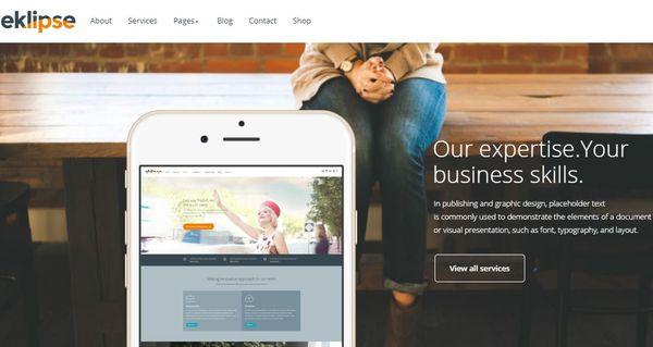 Eklipse - Social Sharing integrated WordPress Theme