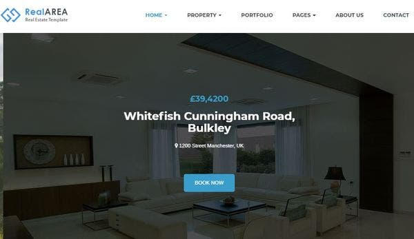 RealArea - Bootstrap WordPress Theme