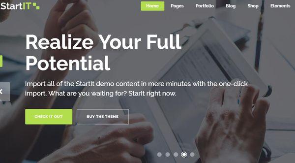 Startit – Custom Mega Menu WordPress Theme