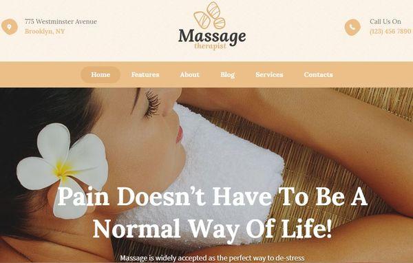 Massage Therapist- Spa WordPress Theme