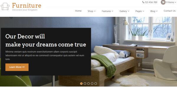 Furniture - Third-party Plugins Powered WordPress Theme