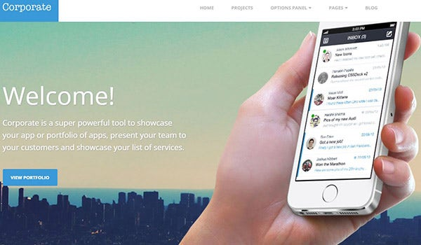 Corporate – a Responsive business-oriented WordPress theme