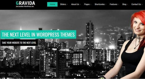 Gravida – Carousel Compatible WordPress Theme