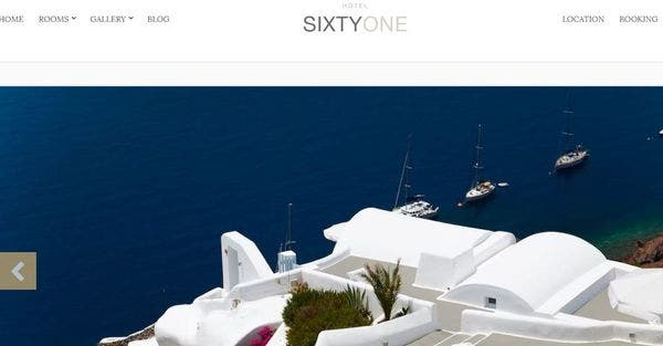 Sixty One- WP theme with Vibrant Images
