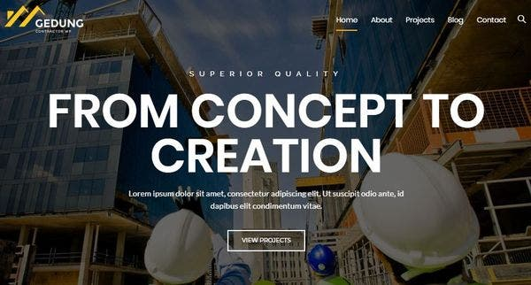 Gedung – Extra Optimized WordPress Theme