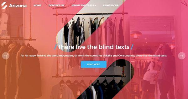 Arizona- Smooth Scrolling WordPress Theme